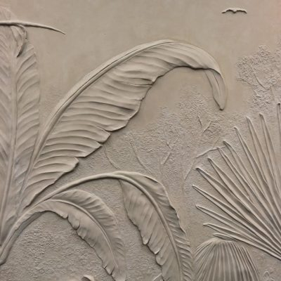 Bas-relief sculpture materials: Scagliola